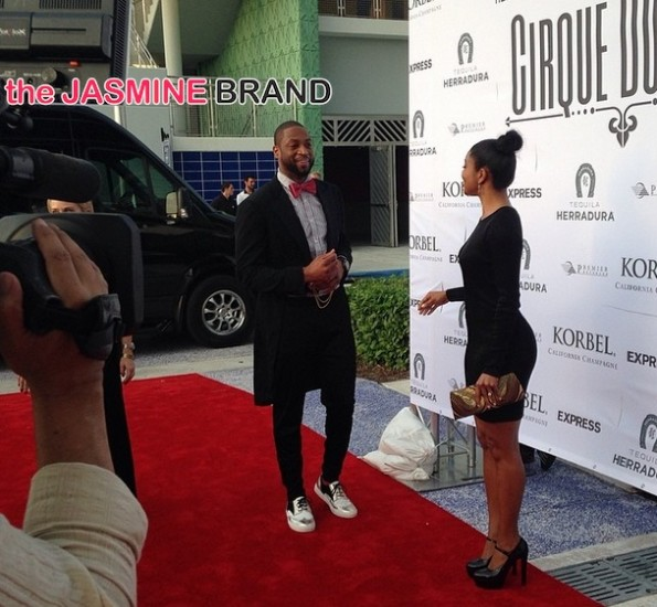 dwyane wade-gabrielle union red carpet-christopher bosh-30th birthday-cirquedunoir 2014-the jasmine brand