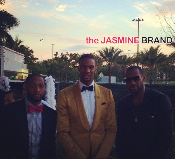 dwyane wade-lebron james-christopher bosh-30th birthday-cirquedunoir 2014-the jasmine brand