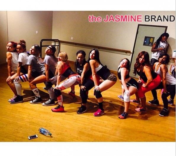 group-karrueche tran-tiny-christina milian-celebrity private twerk lessons 2014-thejasmine brand