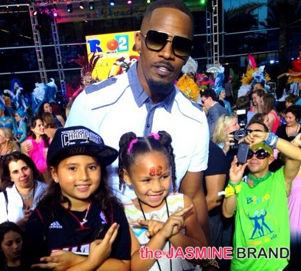 jamie foxx and daughter-rio 2 premiere-miami-after party concert-the jasmine brand