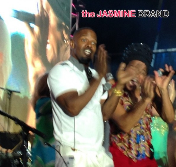jamie foxx dancing-rio 2 premiere-miami-after party concert-the jasmine brand