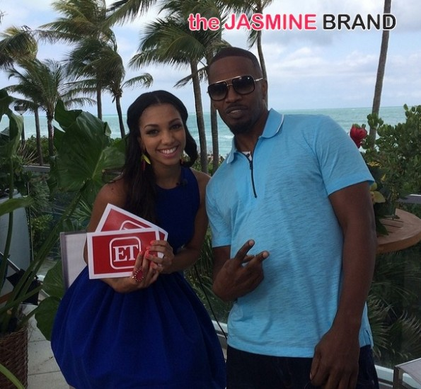 jamie foxx daughter-corinne foxx-ET TV gig-interviews rio 2 cast 2014-the jasmine brand