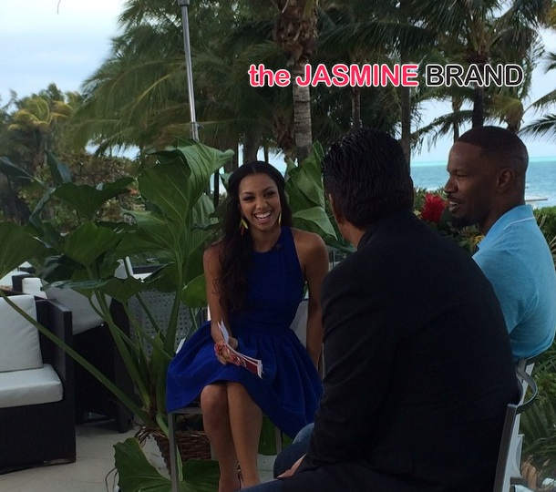jamie foxx daughter-corinne foxx-ET TV gig-interviews rio 2 cast-the jasmine brand