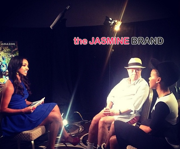 jamie foxx daughter-corinne foxx-interviews cast rio 2-the jasmine brand