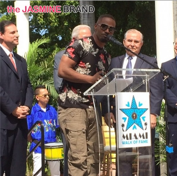 jamie foxx-miami keys to the city-miami walk of fame-the jasmine brand