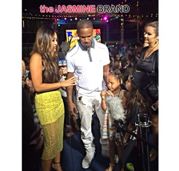 jamie foxx-press-with kids-rio 2 premiere-miami-after party concert-the jasmine brand
