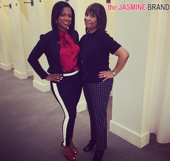 kandi burruss-mama joyce-wedding gown shopping 2014-the jasmine brand