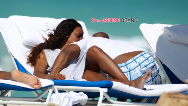 Cup Cakin' In Plain Sight: Kelly Rowland & Fiancé Tim Witherspoon Hit Miami Beach