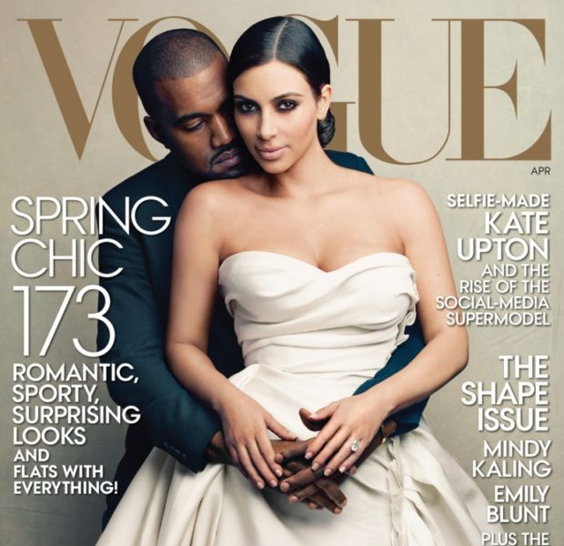 Kim Kardashian FINALLY Makes VOGUE Cover With Kanye West: #WorldsMostTalkedAboutCouple