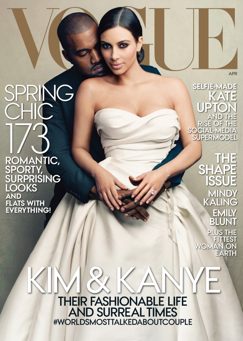 kim kardashian-kanye west-VOGUE cover-the jasmine brand