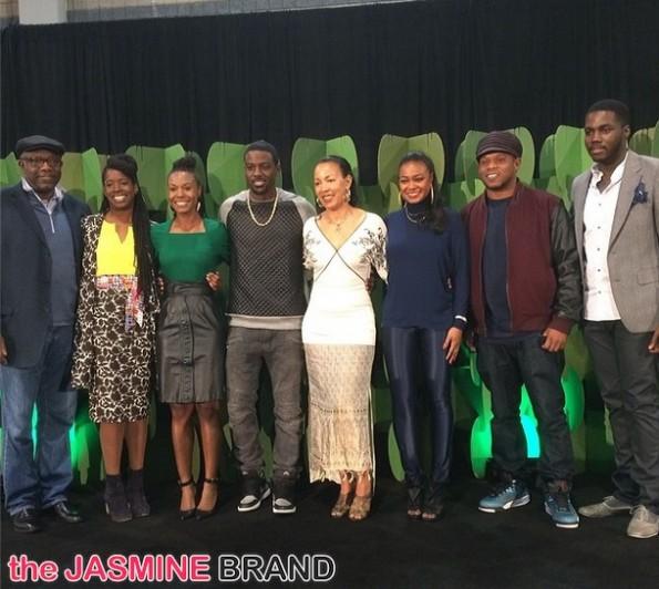 lance gross-tatyana ali-panel-mc lyte-celebs attend CIAA 2014-the jasmine brand