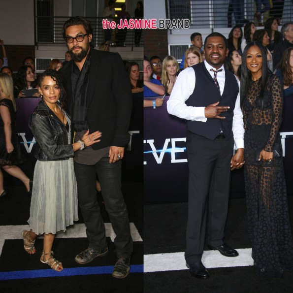 lisa bonet-jason momoa-mekhi phifer-wife Reshelet Barnes-divergent movie premiere 2014-the jasmine brand