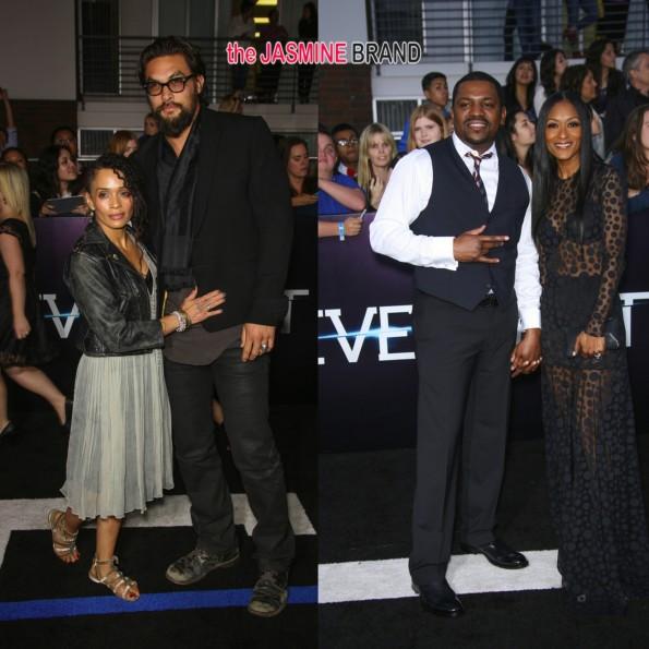 lisa bonet-jason momoa-mekhi phifer-wife Reshelet Barnes-divergent movie premiere 2014-the jasmine brand