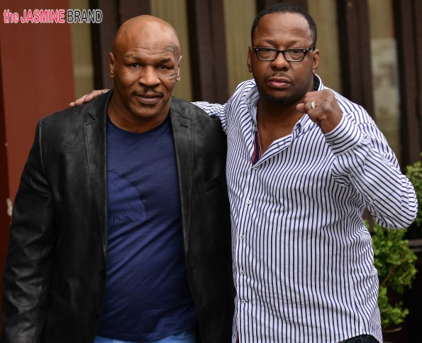 Mike Tyson and Bobby Brown hang out with each other in Beverly Hills, CA