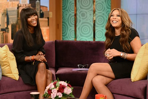 Wendy Williams interviewing Naomi Campbell at the Wendy Williams Show