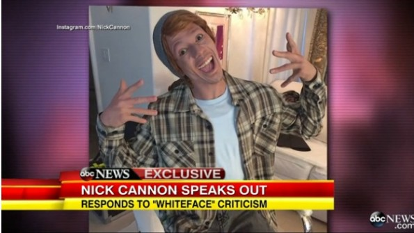 nick cannon-defends white face on GMA-the jasmine brand