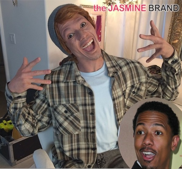 nick cannon-goes white face-white people party music-the jasmine brand