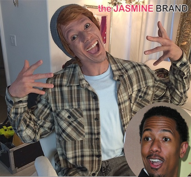 [VIDEO] Funny or Racist? Nick Cannon Goes Completely White Face
