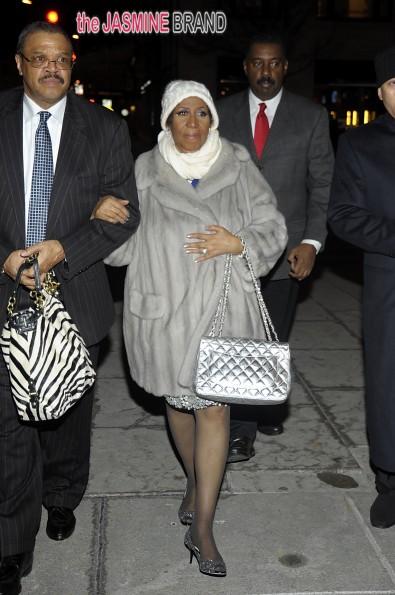 Queen of Soul Aretha Franklin and Willie Wilkerson out to dinner in Washington DC