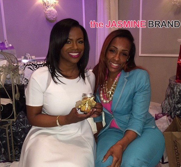 real housewives of atlanta-kandi burruss-with guest-bridal shower-wedding special 2014-the jasmine brand