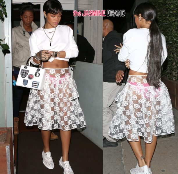 Rihanna Does Dinner in Fashionable Undies + Rosario Dawson Stuns At Cesar Chavez Premiere
