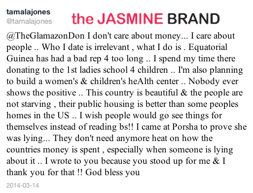 tamala jones-defends african boyfriend and blasting porsha stewart-the jasmine brand