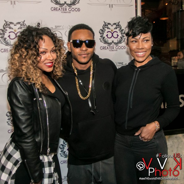 Meagan Good Eric Bellinger and La'Myia Good