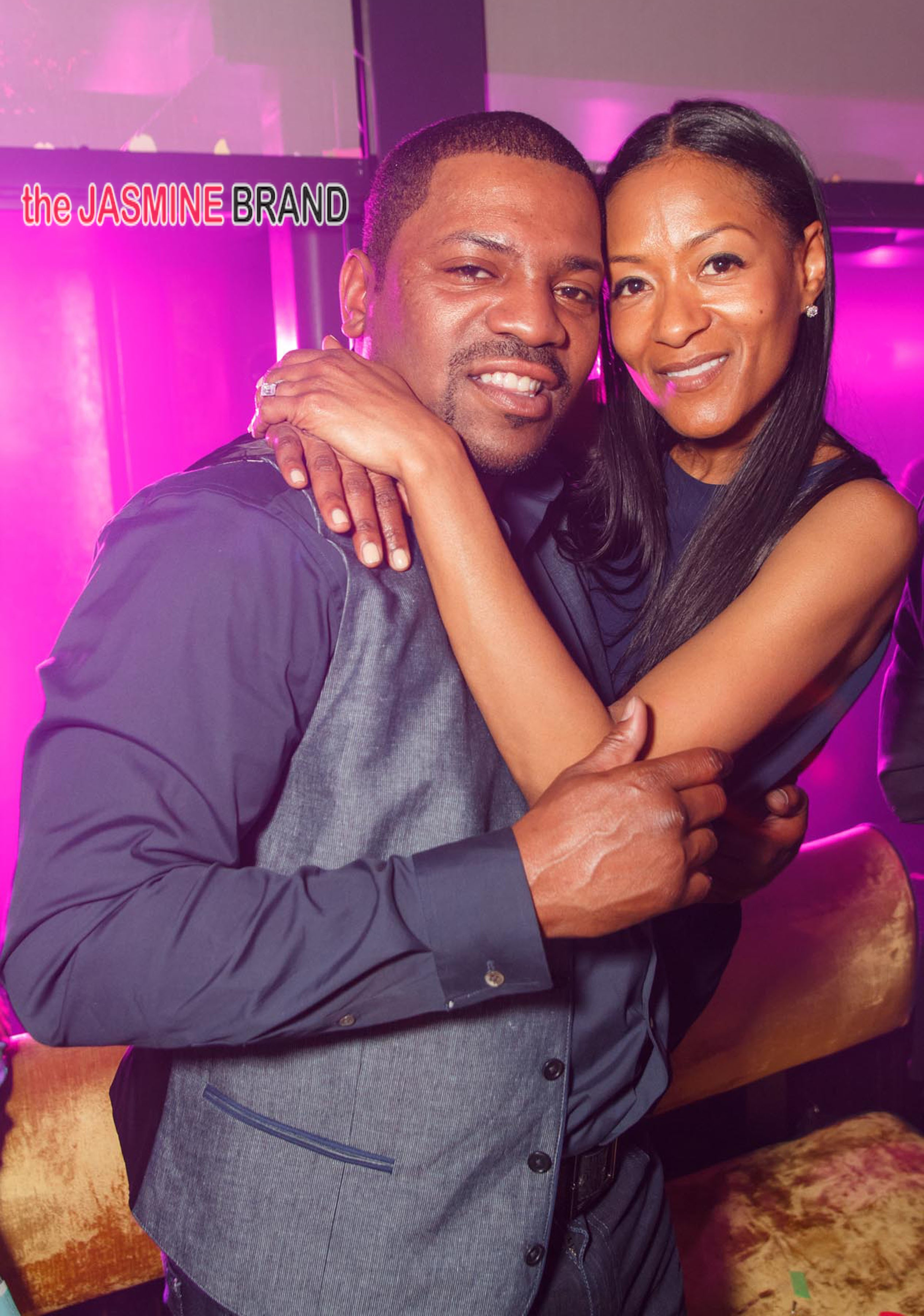 Mekhi Phifer and wife Reshelet celebrate a family birthday at HAZE nightclub at the ARIA resort in Las Vegas