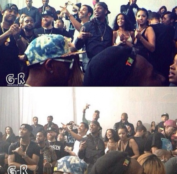 Rihanna Drake Partying In LA -3-The Jasmine Brand