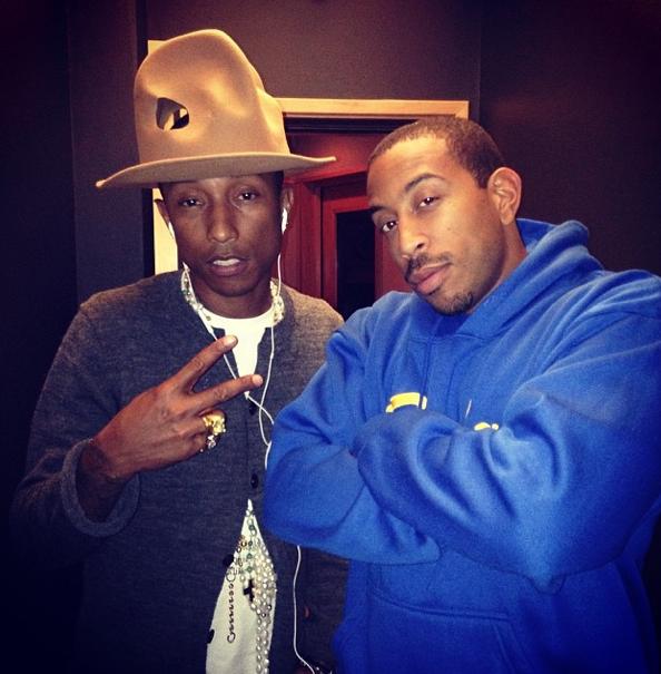Ludacris Pharrell In Studio-The Jasmine Brand