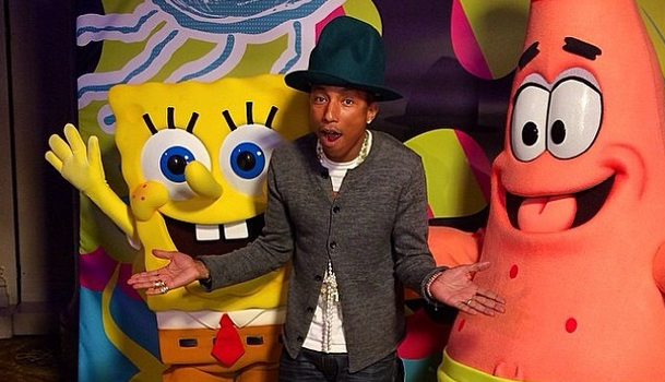 [Forever Young] Spongebob Square Pants Hosts Pharrell's 41st Birthday Bash