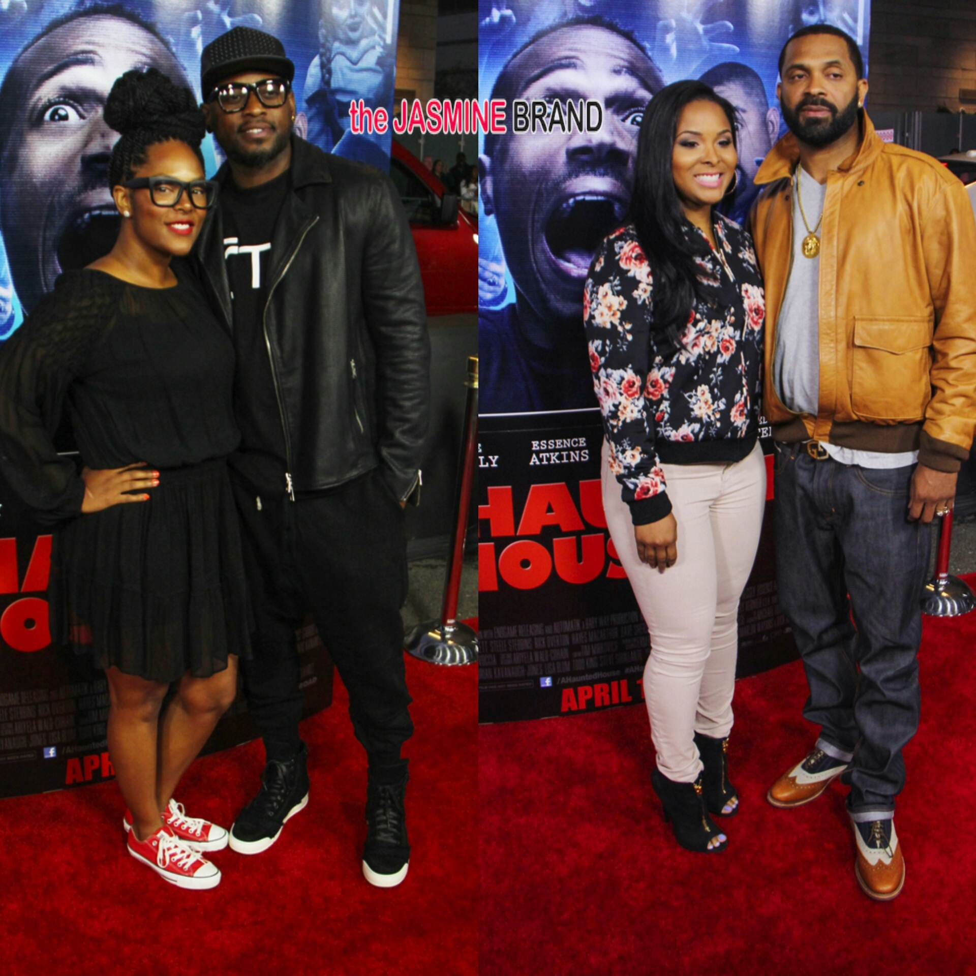 A Haunted House 2 Premiere Cedric the Entertainer Brandy Floyd