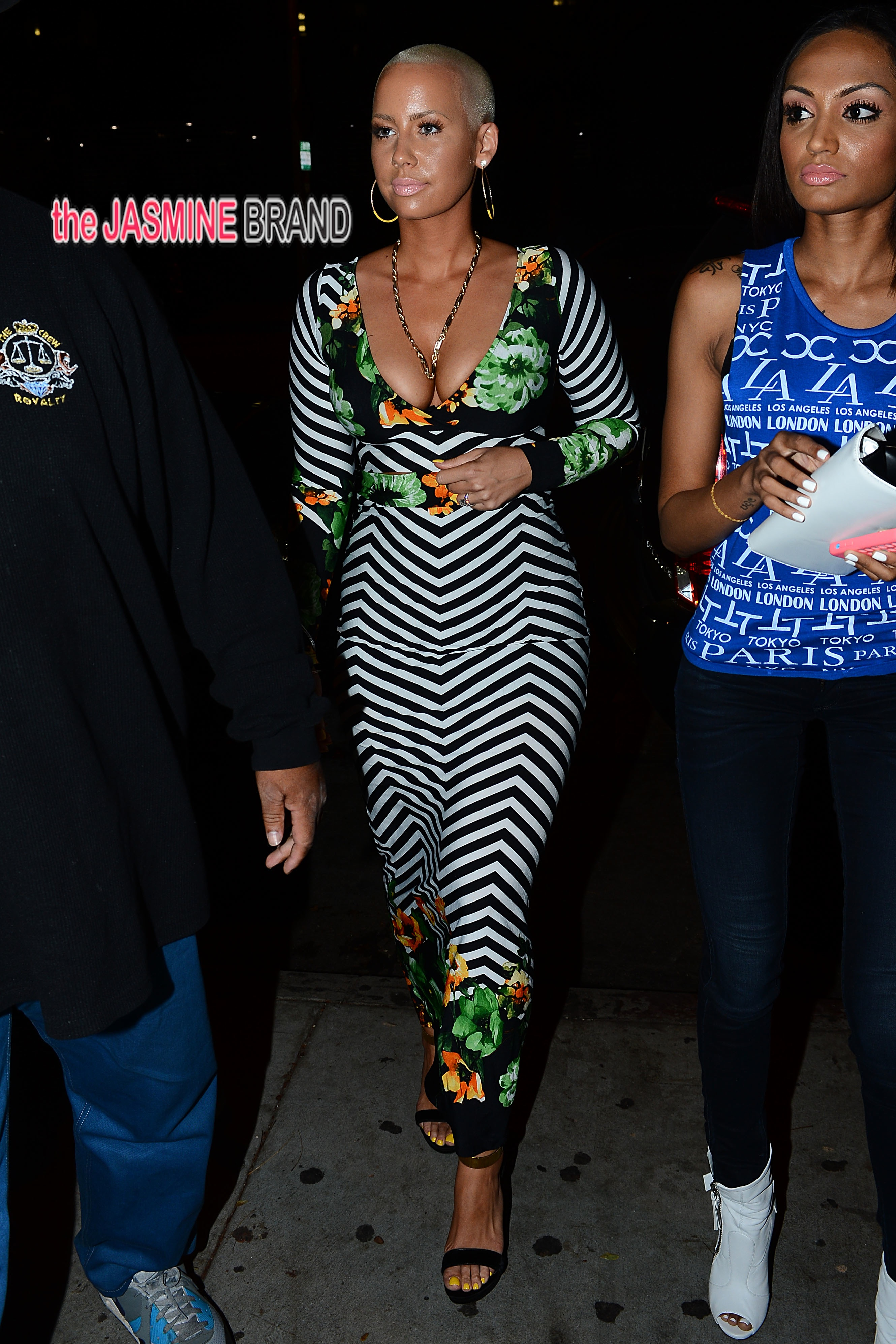 Amber Rose arrives at Hooray Henrys