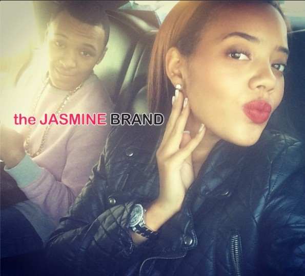 angela simmons-selfie with brother russy-the jasmine brand
