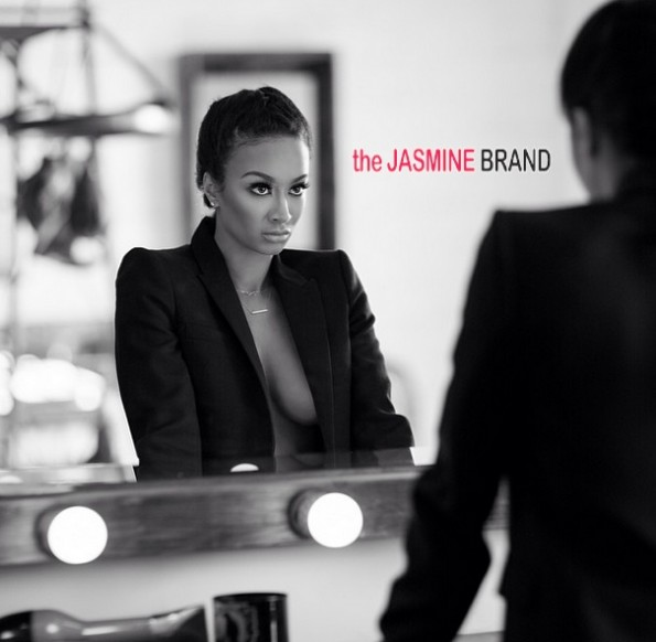 draya michele-reflective moment-dressing room-basketball wives la 2014-the jasmine brand
