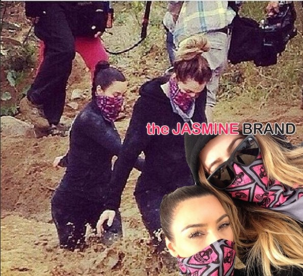 filming-keeping up with the kardashians-kim khloe-mud run-the jasmine brand