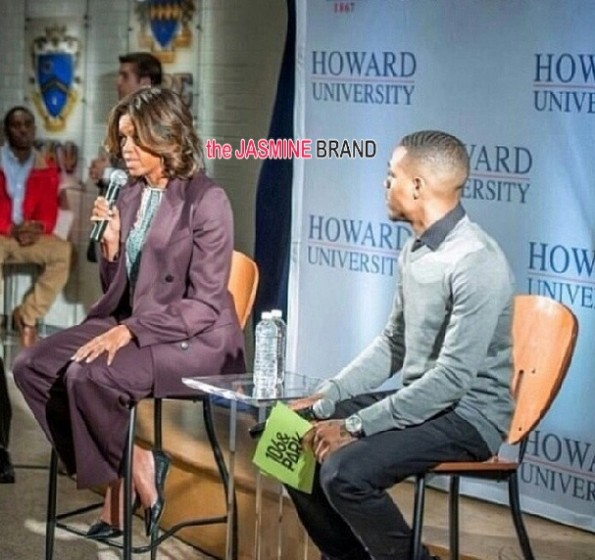 first lady michelle obama-bow wow-visit speak-howard university 2014-i-the jasmine brand