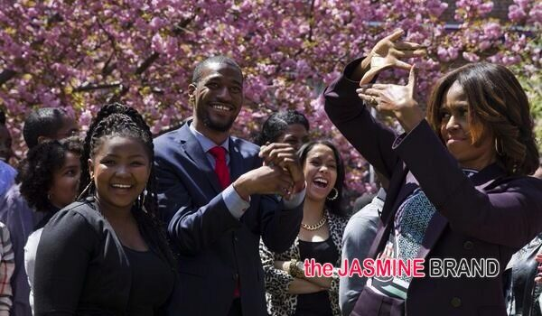 [Photos] First Lady Michelle Obama, Bow Wow Pop-Up At Howard University For College Tour