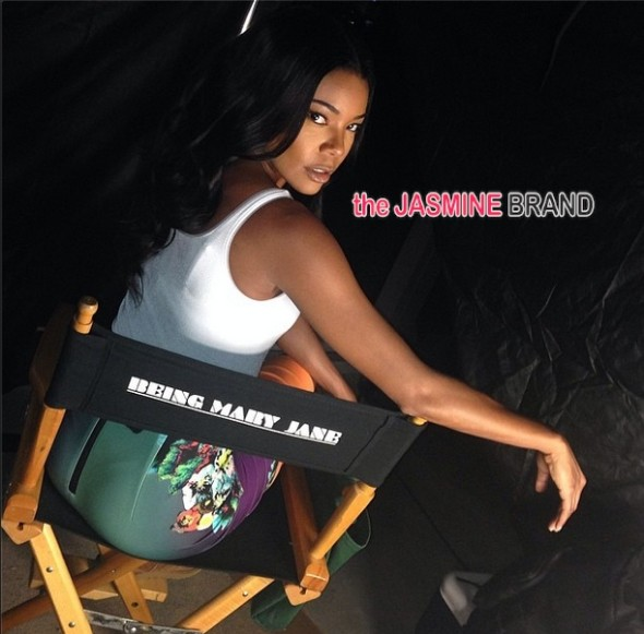 gabrielle union-on set being mary jane filming 2014-the jasmine brand