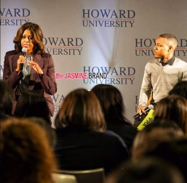 i-first lady michelle obama-bow wow-visit speak-howard university 2014-the jasmine brand