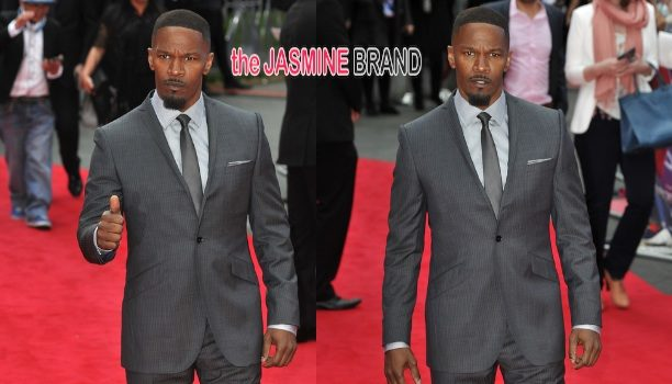 A Dapper Jamie Foxx Attends 'The Amazing Spider Man 2' Premiere in London