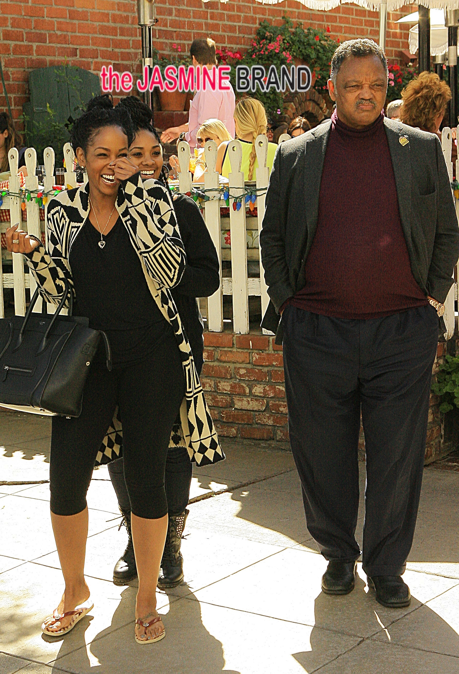 Jesse Jackson and the family head to Beverly Hills for lunch at the Ivoy