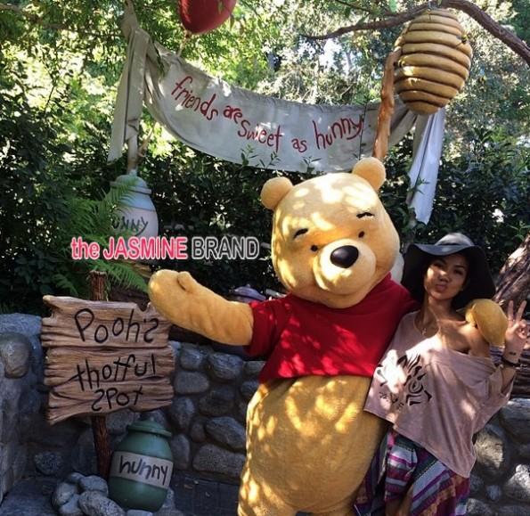 jhene aiko-poses with winnie the pooh-disney land 2014-the jasmine brand
