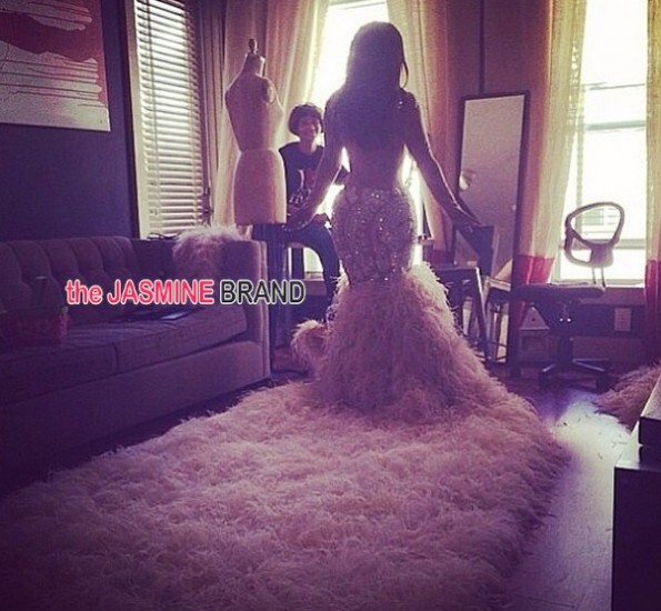 kandi burruss-wedding gown train-the jasmine brand