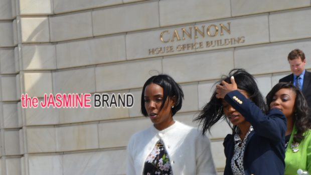 Dressed For Spring! Kelly Rowland Visits Capitol Hill, Lends Celebrity To 'Boys & Girls Club'