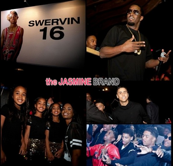 kim porter-chance-twins-diddy-throws swervin 16th-birthday party-son christian combs-the jasmine brand