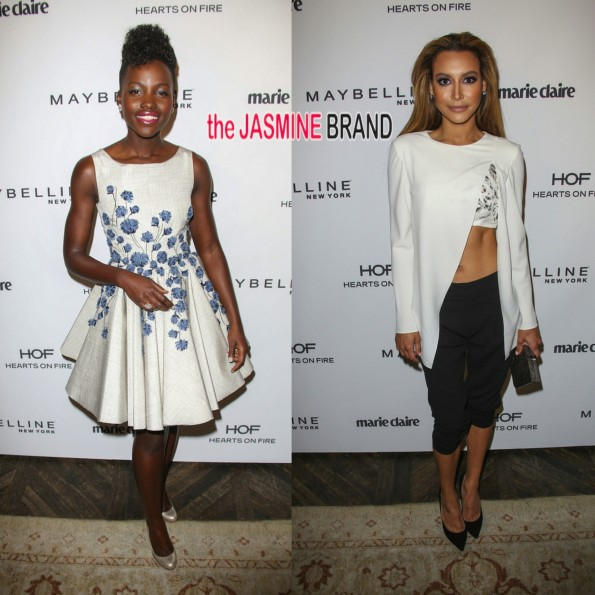 lupita nyongo-naya rivera-marie claire fresh face party 2014-the jasmine brand