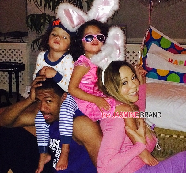 mariah carey-nick cannon-dem babies-celebrities-easter 2014-the jasmine brand