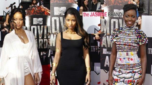[Photos] MTV Movie Awards: Lupita Nyong'o, Nicki Minaj, Rihanna & More Hit the Red Carpet