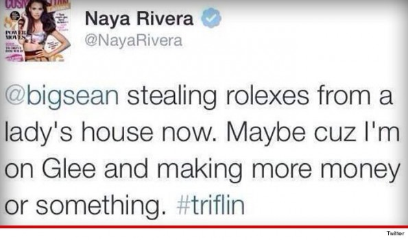 naya rivera-big sean stole rolex-twitter beef-the jasmine brand